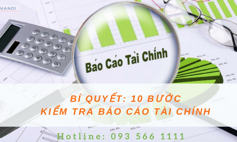 Cách kiểm tra báo cáo tài chính trước khi nộp lên cơ quan thuế