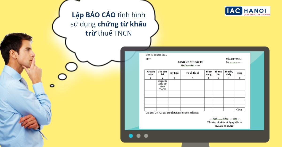 Bảng kê sử dụng chứng từ khấu trừ thuế tncn trên htkk